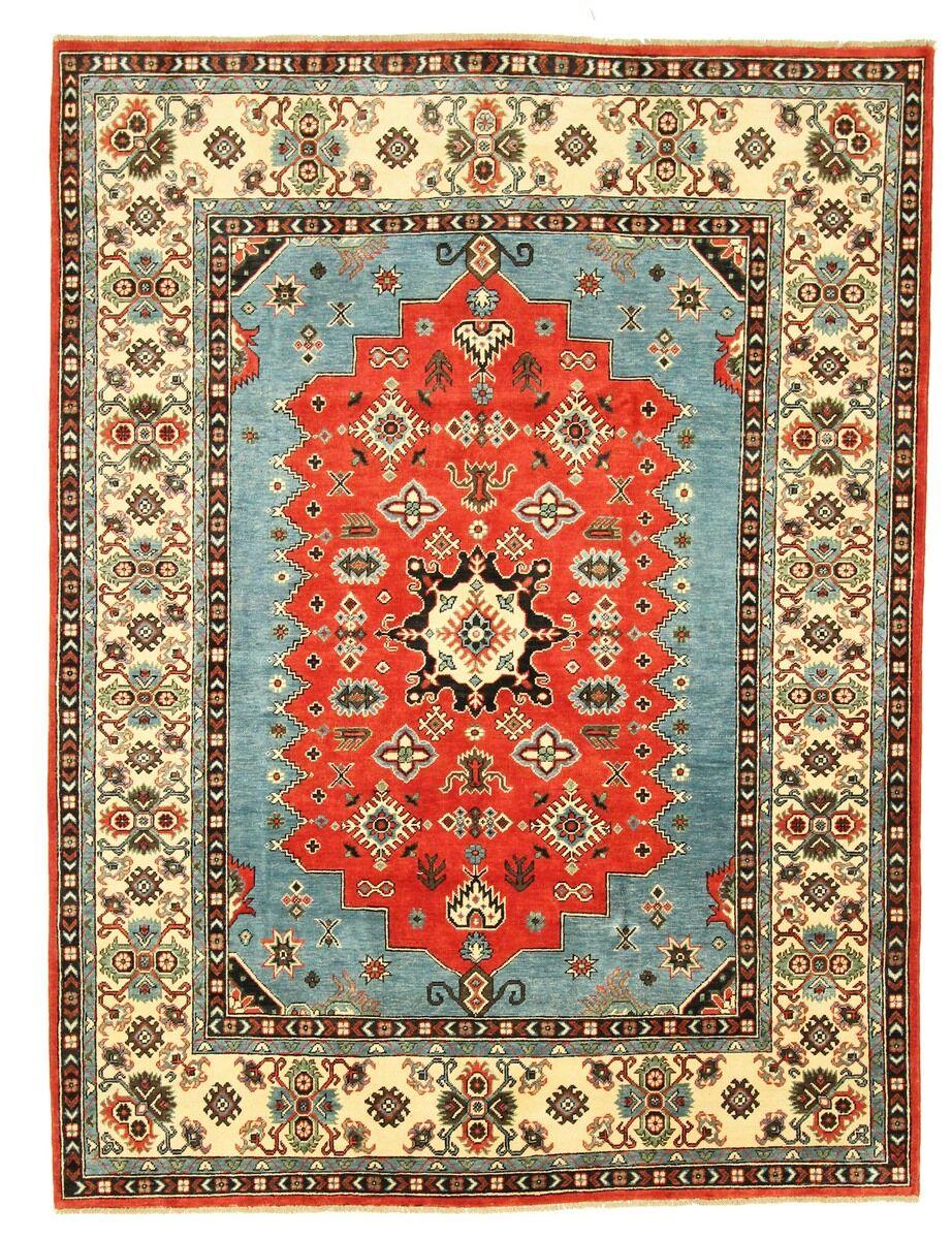Nain Trading Tapis D'orient Kazak Royal 272x205 Beige/Marron Foncé (Pakistan, Laine, Noué à la main)