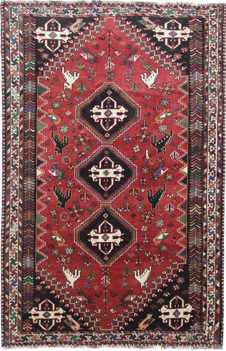 Nain Trading Tapis Shiraz 280x184 Gris Foncé/Marron Foncé (Laine, Perse/Iran, Noué à la main)