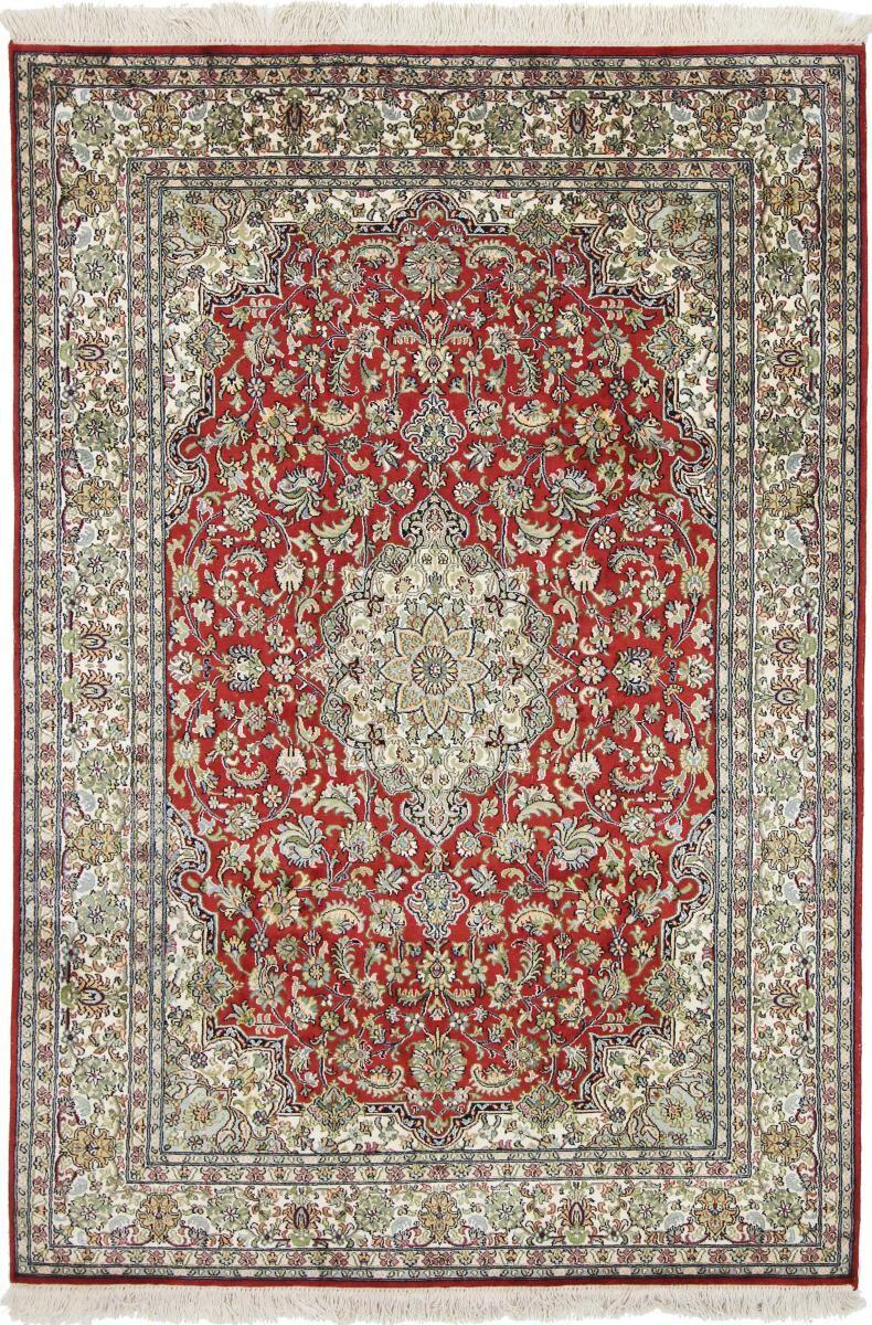 Nain Trading Tapis D'orient Cachemire Pure Soie 184x126 Beige/Rose (Noué à la main, Inde, Soie)