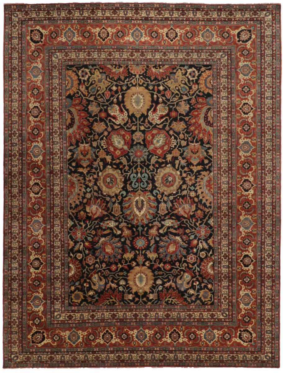 Nain Trading Tapis D'orient Ziegler Farahan Royal 397x300 Gris Foncé/Marron Foncé (Noué à la main, Inde, Laine)