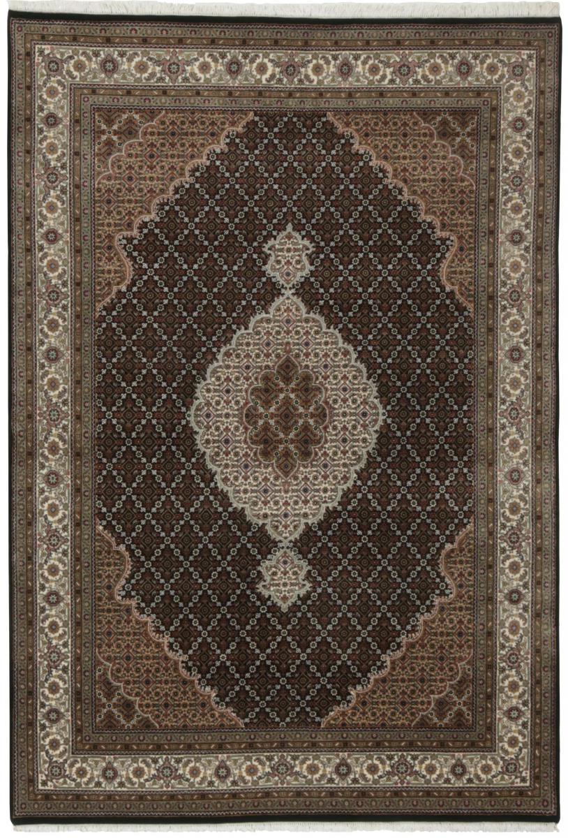 Nain Trading Tapis Indo Tabriz Royal 244x170 Gris Foncé/Marron Foncé (Laine, Inde, Noué à la main)