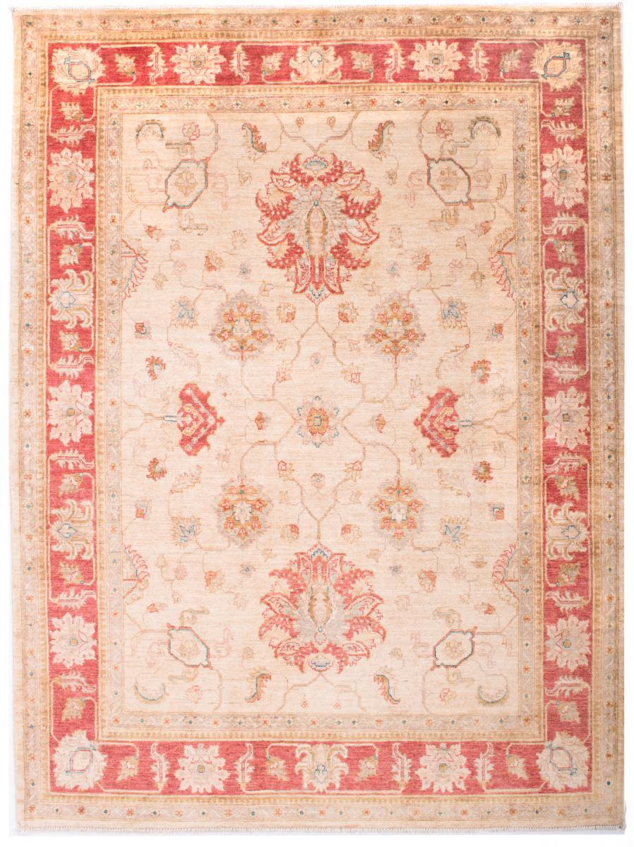 Nain Trading Tapis Authentique Ziegler Farahan Arijana 197x151 Beige/Rose (Laine, Afghanistan, Noué à la main)