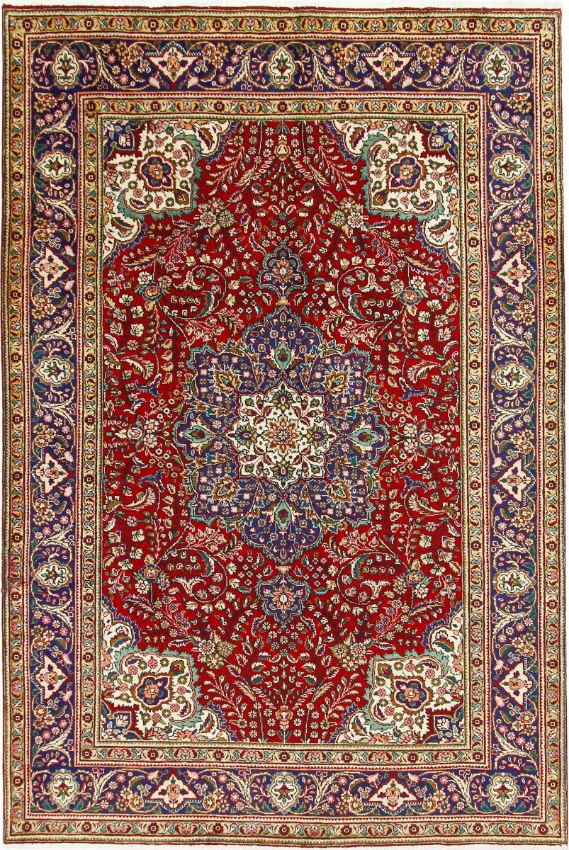 Nain Trading Tapis Persan Tabriz 304x202 Tabriz Marron/Rose (Noué à la main, Perse/Iran, Laine)