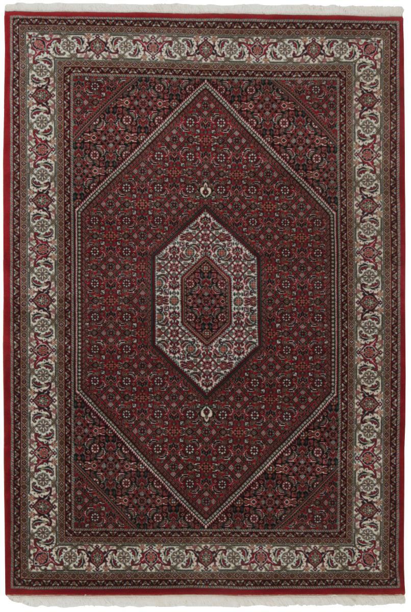 Nain Trading Tapis D'orient Indo Bidjar Royal 201x137 Marron Foncé (Noué à la main, Inde, Laine)