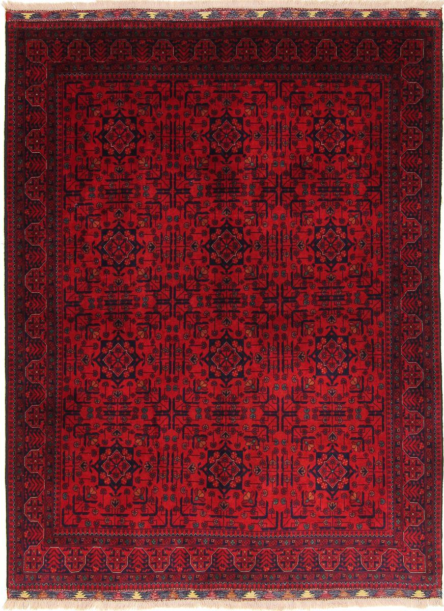 Nain Trading Tapis D'orient Khal Mohammadi Belgique 199x150 Marron Foncé/Rouille (Afghanistan, Laine, Noué à la main)