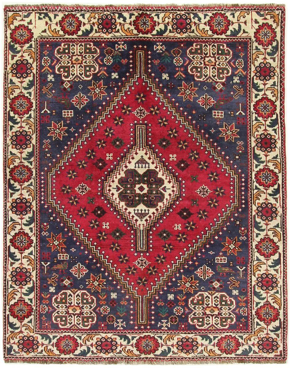 Nain Trading Tapis Fait Main Shiraz 196x152 Rouille/Violet (Laine, Perse/Iran)