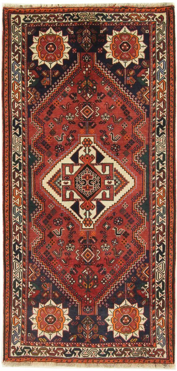 Nain Trading Tapis Persan Shiraz 179x84 Shiraz Beige/Rouille (Noué à la main, Perse/Iran, Laine)