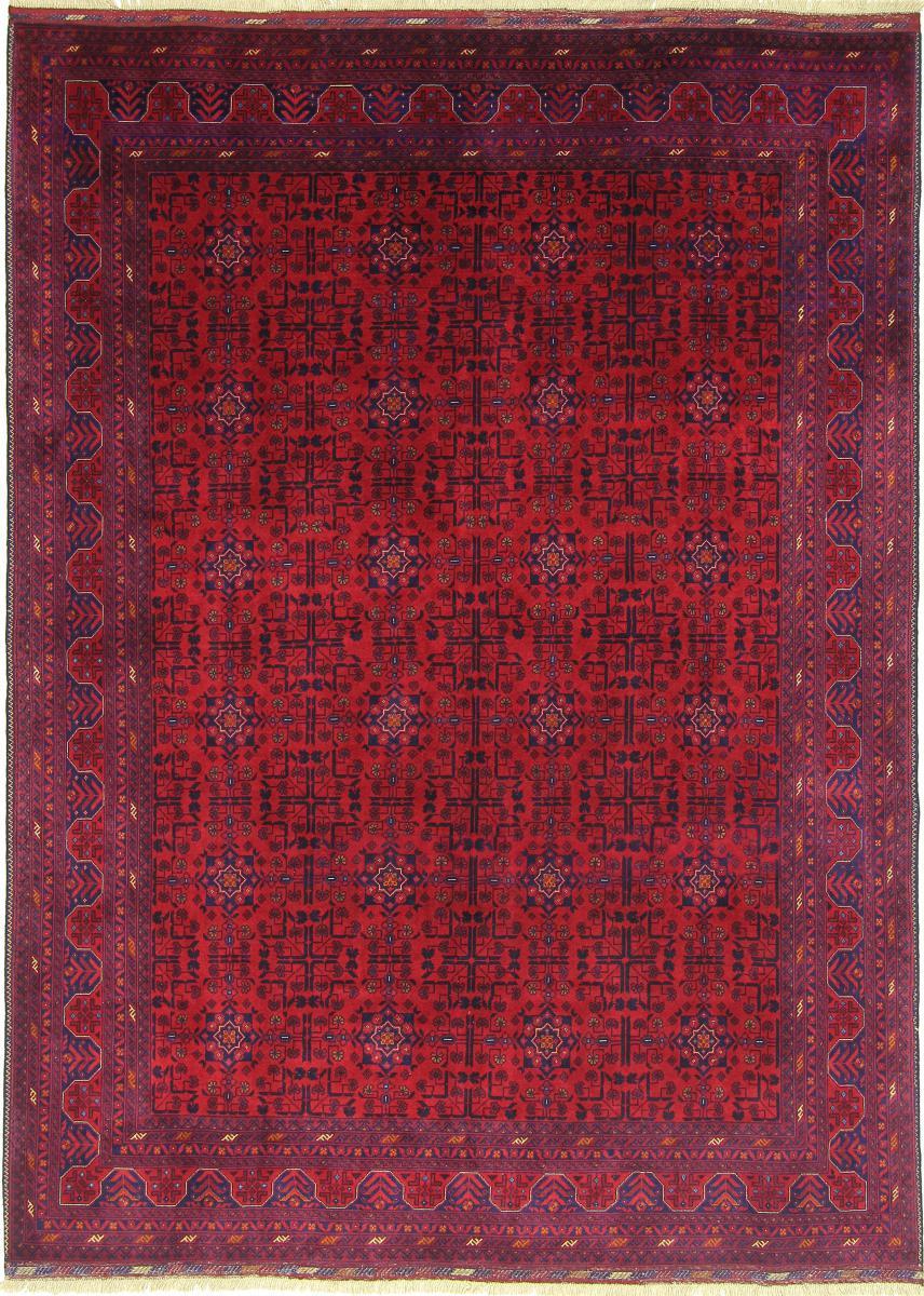 Nain Trading Tapis D'orient Khal Mohammadi Belgique 239x175 Rouille/Violet (Afghanistan, Laine, Noué à la main)