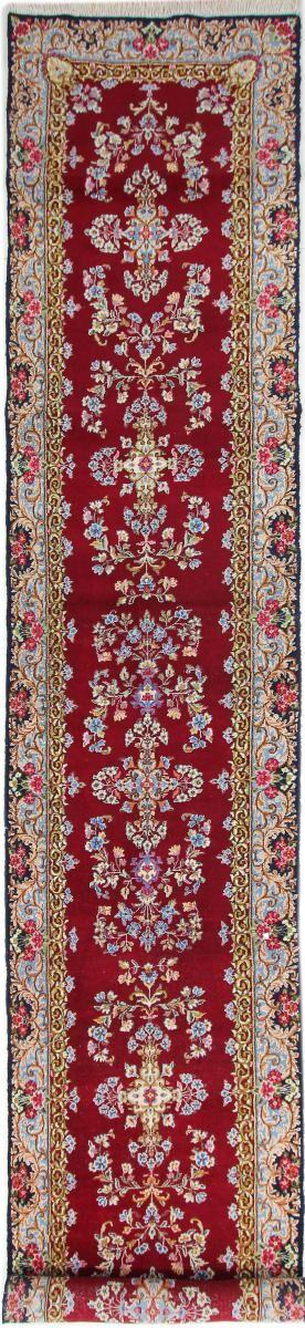 Nain Trading Tapis D'orient Kerman 555x99 Gris/Violet (Perse/Iran, Laine, Noué à la main)