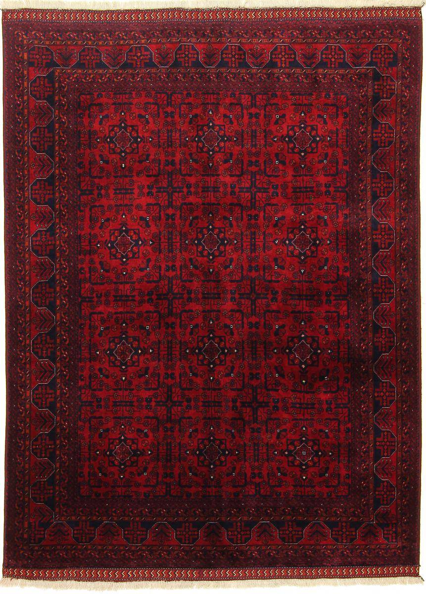 Nain Trading Tapis D'orient Khal Mohammadi Belgique 202x151 Marron Foncé/Rouille (Noué à la main, Afghanistan, Laine)
