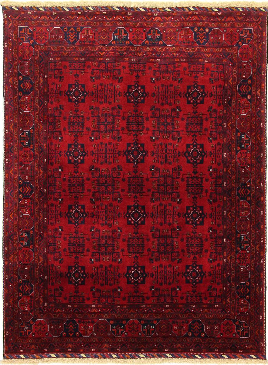 Nain Trading Tapis D'orient Khal Mohammadi Belgique 201x154 Marron Foncé/Rouille (Afghanistan, Laine, Noué à la main)