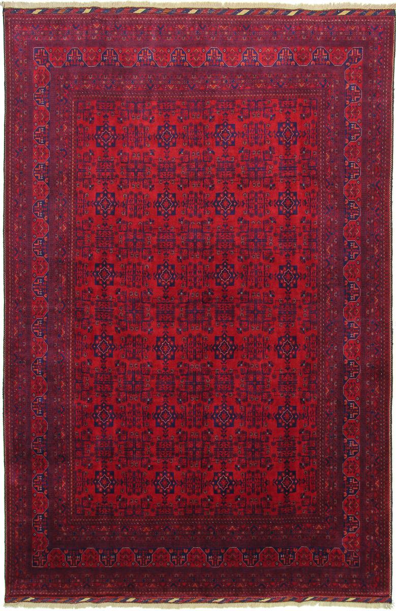 Nain Trading Tapis D'orient Khal Mohammadi Belgique 302x200 Marron Foncé/Violet (Afghanistan, Laine, Noué à la main)