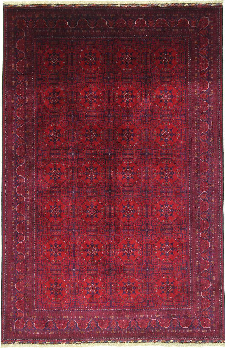 Nain Trading Tapis D'orient Khal Mohammadi Belgique 303x200 Marron Foncé/Violet (Laine, Afghanistan, Noué à la main)
