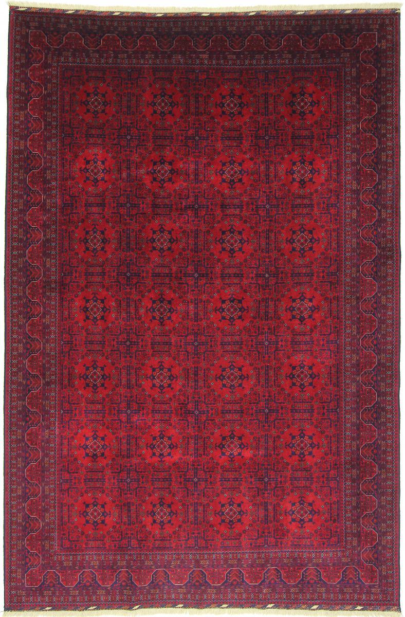 Nain Trading Tapis D'orient Khal Mohammadi Belgique 306x204 Marron Foncé/Violet (Afghanistan, Laine, Noué à la main)