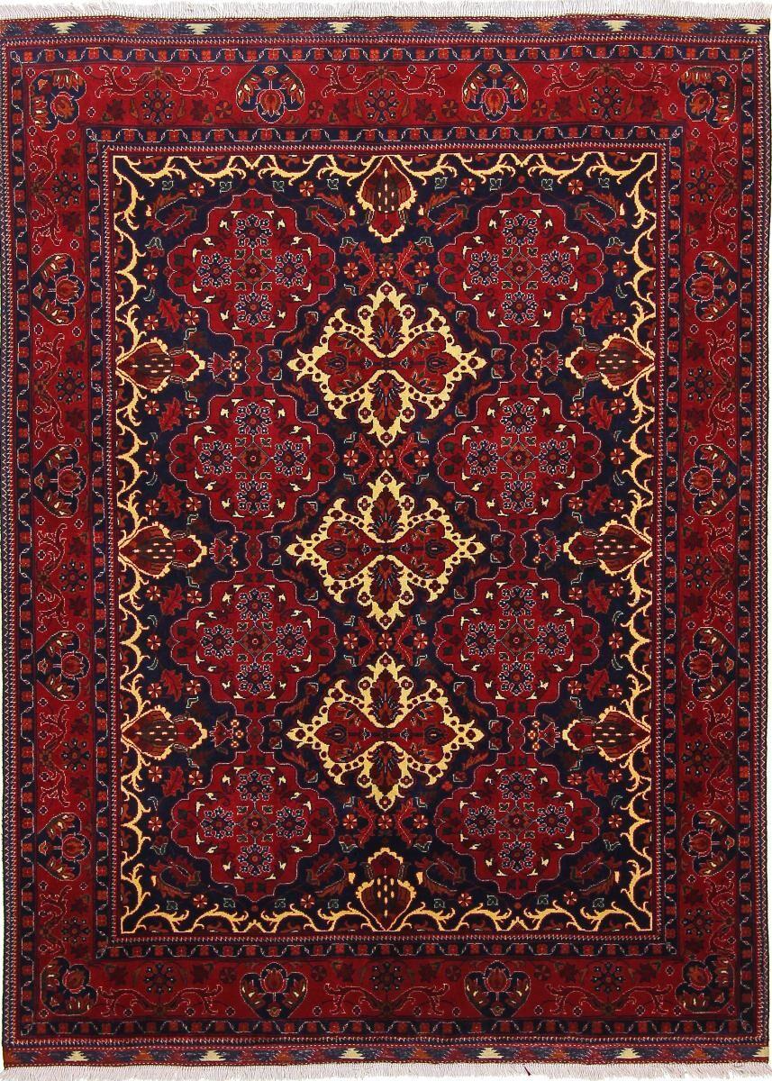 Nain Trading Tapis D'orient Khal Mohammadi Belgique 199x151 Gris Foncé/Rouille (Noué à la main, Afghanistan, Laine)