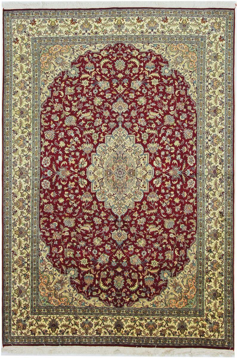 Nain Trading Tapis D'orient Cachemire Pure Soie 244x167 Marron Foncé/Rouille (Soie, Inde, Noué à la main)