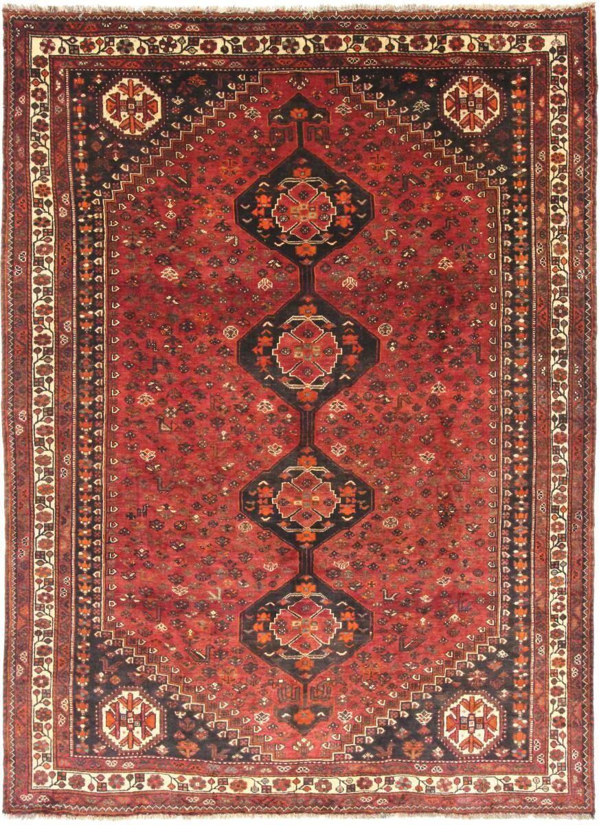 Nain Trading Tapis Fait Main Shiraz 331x237 Marron Foncé/Rose (Laine, Perse/Iran)