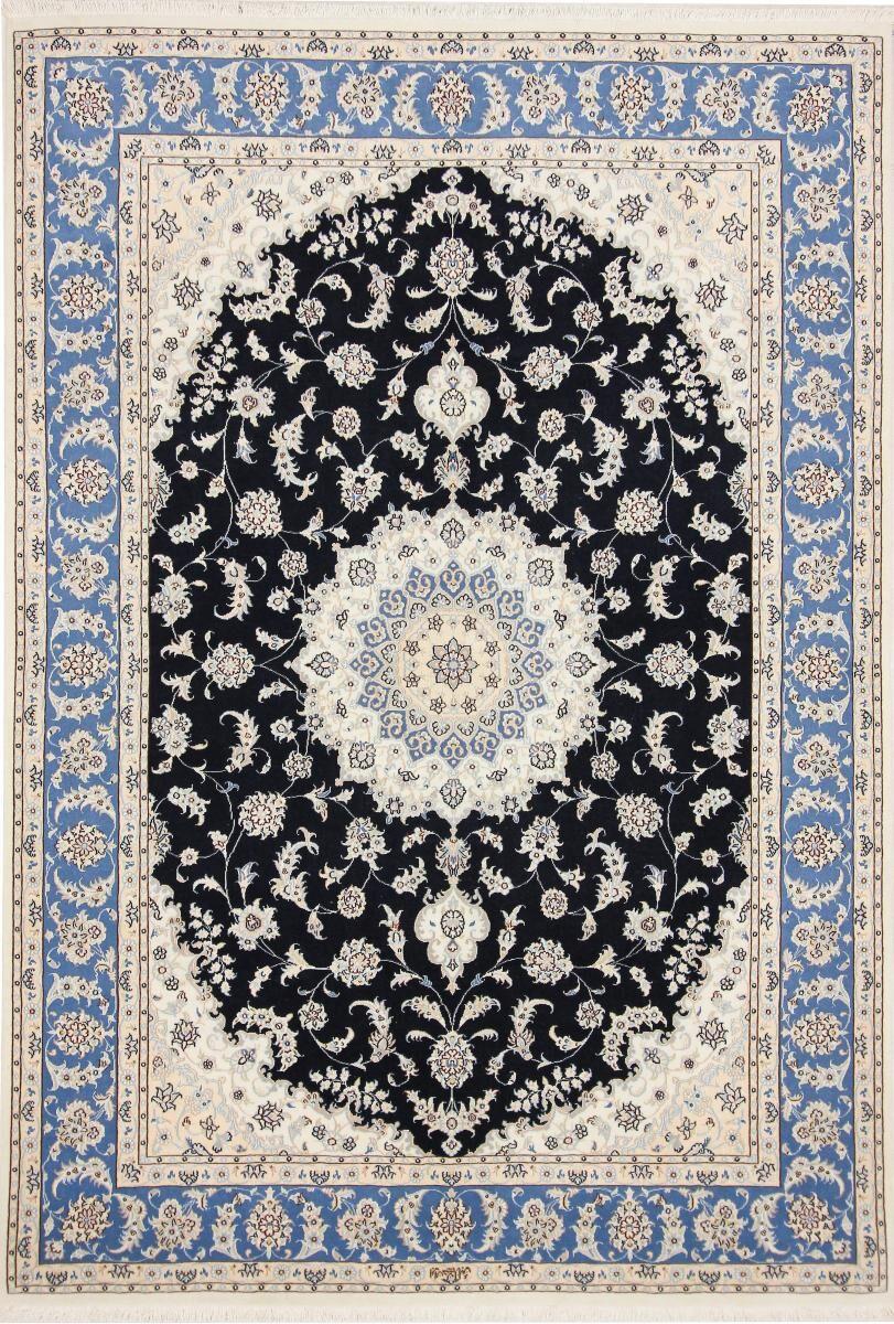 Nain Trading Tapis Persan Naïn 9La Signé 249x170 Naïn 9La Signé Gris Foncé/Bleu Clair (Noué à la main, Perse/Iran, Laine/Soie)