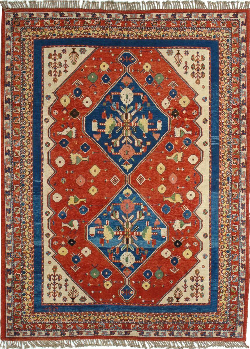Nain Trading Tapis D'orient Shiraz 293x220 Marron/Rouille (Perse/Iran, Laine, Noué à la main)