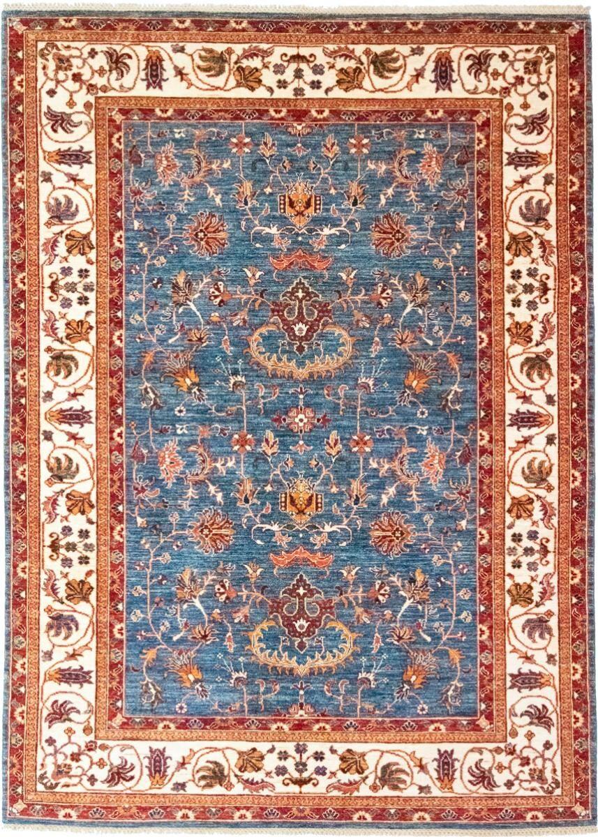 Nain Trading Tapis D'orient Arijana Shaal 240x176 Bleu Clair/Rose (Laine, Pakistan, Noué à la main)