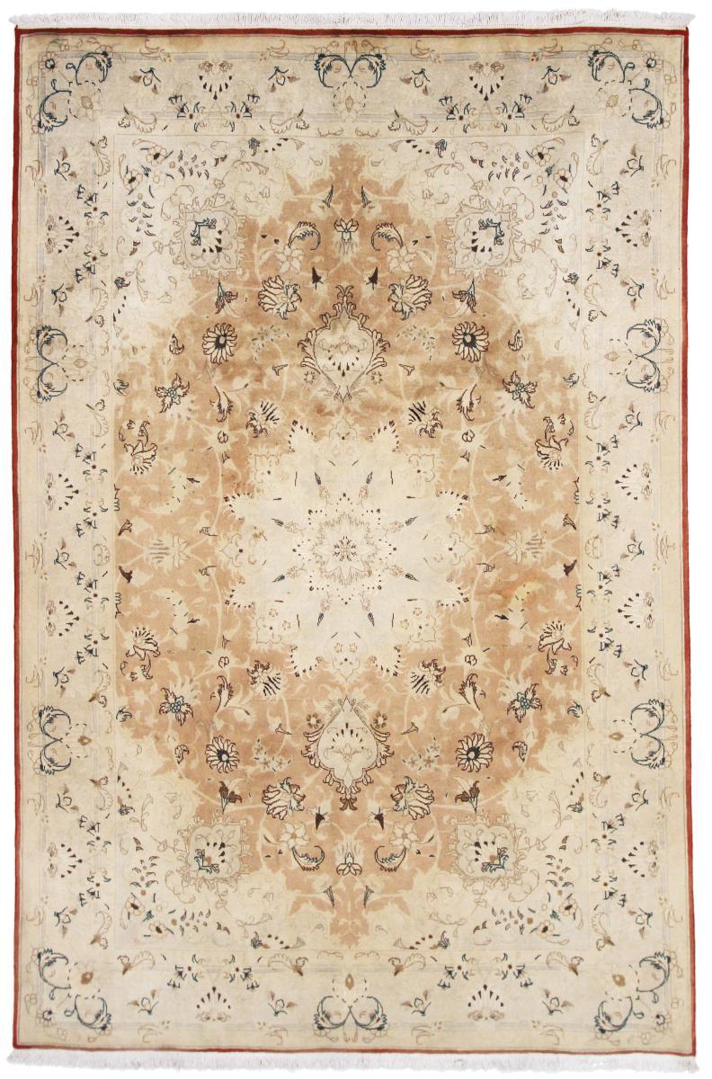 Nain Trading Tapis Tabriz 305x209 Beige/Rose (Laine/Soie, Perse/Iran, Noué à la main)
