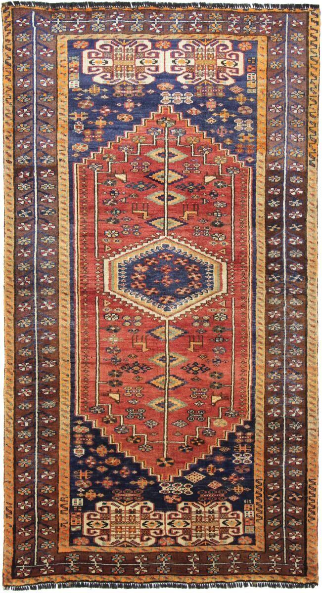 Nain Trading Tapis D'orient Shiraz 251x137 Marron/Orange (Perse/Iran, Laine, Noué à la main)
