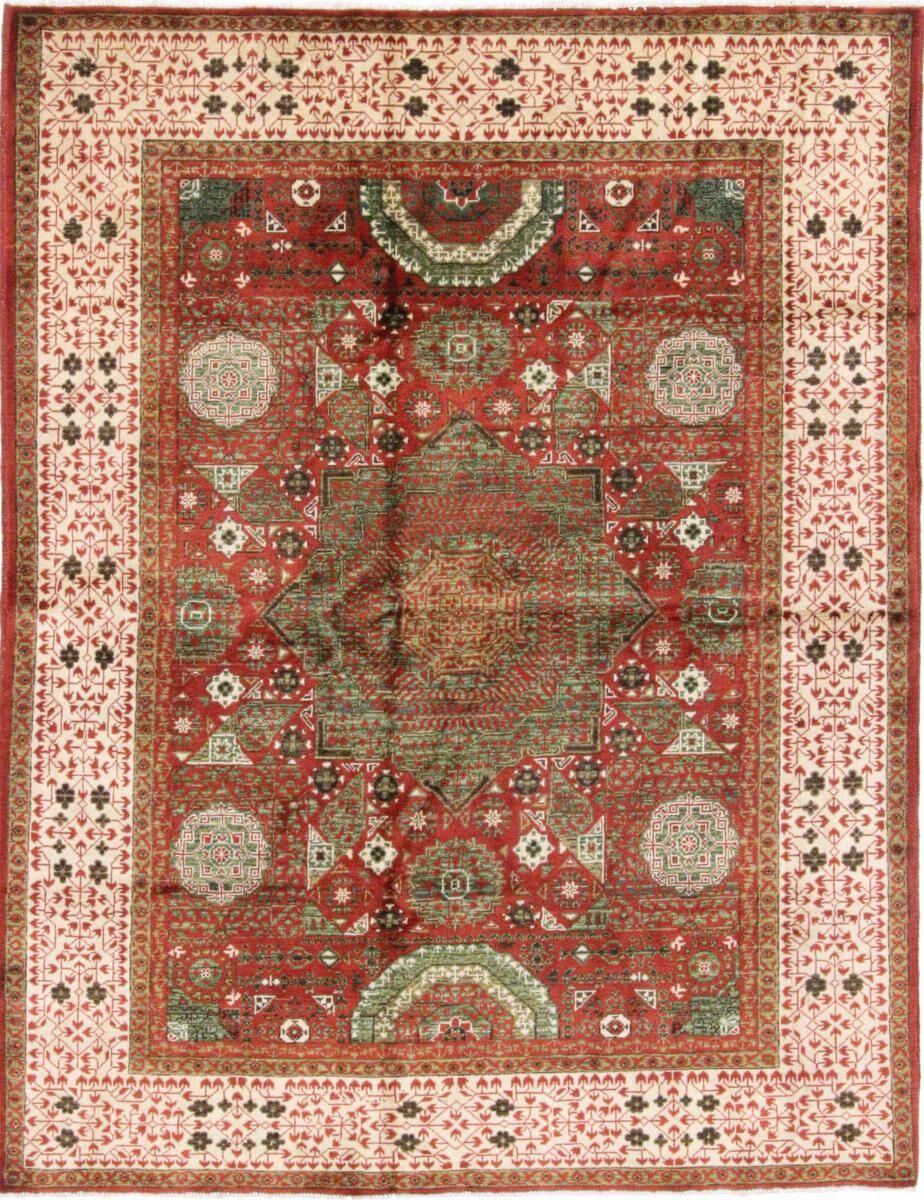 Nain Trading Tapis Authentique Mamluk 200x154 Marron/Rose (Laine, Afghanistan, Noué à la main)