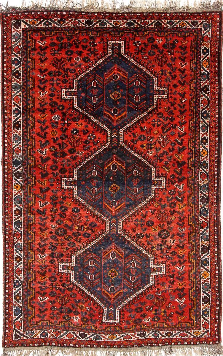 Nain Trading Tapis D'orient Shiraz Ancien 300x193 Rouille/Violet (Perse/Iran, Laine, Noué à la main)