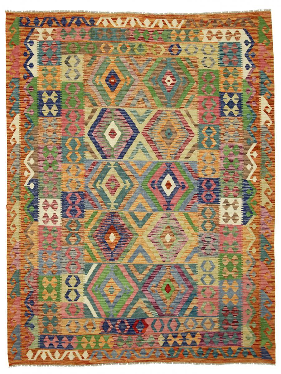 Nain Trading Tapis Authentique Kilim Himalaya 241x185 Rouille/Vert Foncé (Laine, Afghanistan, Tissé à la main)