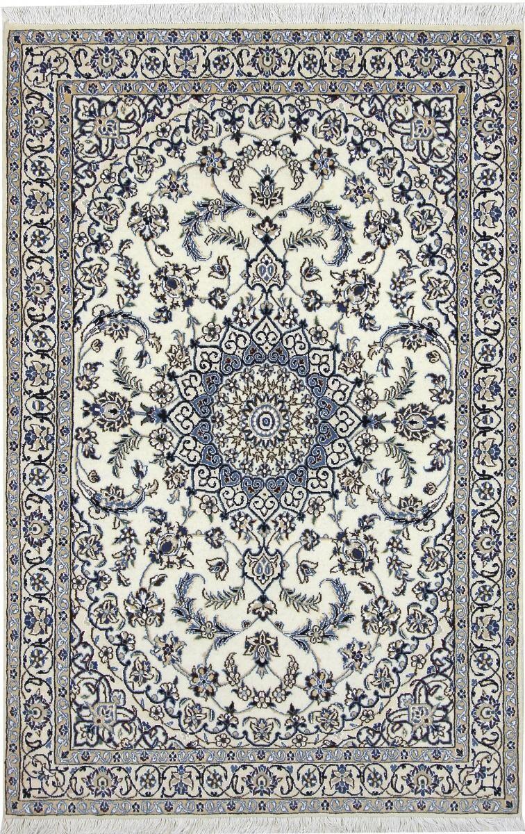 Nain Trading Tapis Persan Naïn 9La 181x119 Naïn 9La Gris Foncé/Bleu Clair (Noué à la main, Perse/Iran, Laine)