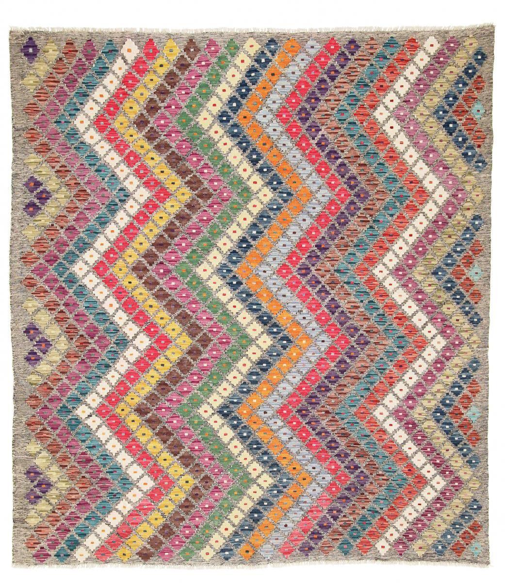 Nain Trading Tapis D'orient Kilim Himalaya 236x214 Beige/Marron Foncé (Afghanistan, Laine, Tissé à la main)