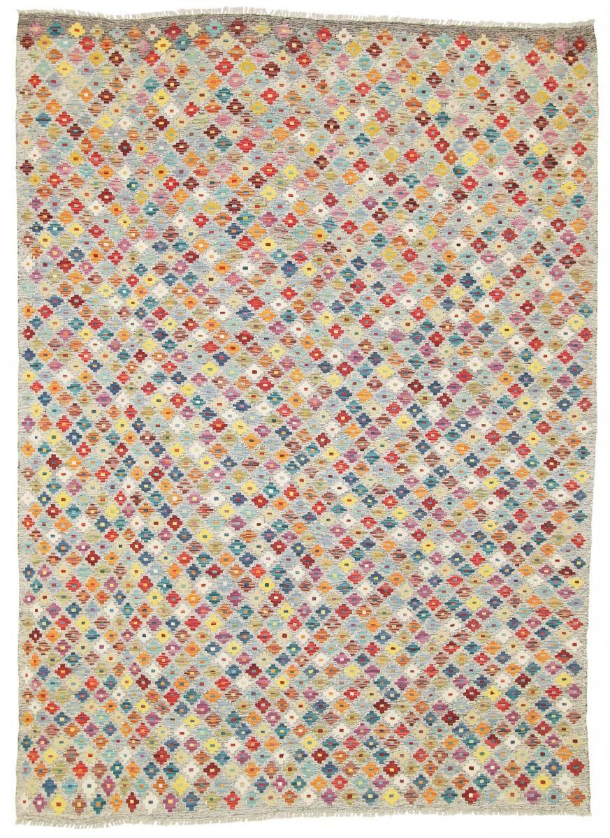 Nain Trading Tapis D'orient Kilim Himalaya 290x213 Beige/Marron Foncé (Tissé à la main, Afghanistan, Laine)