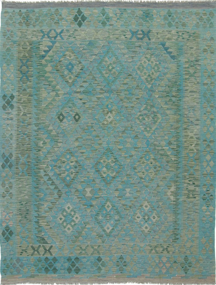 Nain Trading Tapis Authentique Kilim Afghan Heritage 239x183 Gris Foncé/Bleu Clair (Laine, Afghanistan, Tissé à la main)