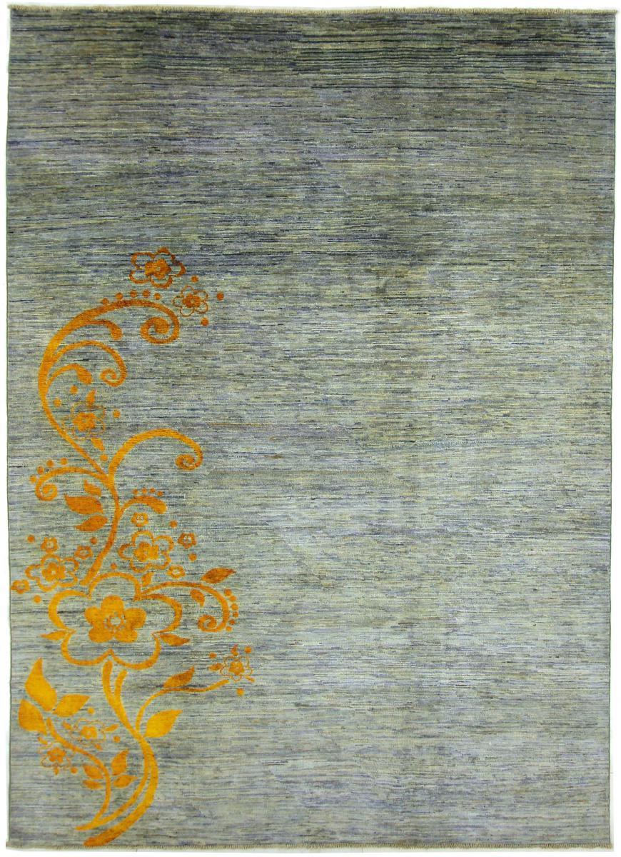 Nain Trading Tapis Ziegler Design 286x211 Moderne/Design Gris Foncé/Bleu Clair (Noué à la main, Laine, Afghanistan)