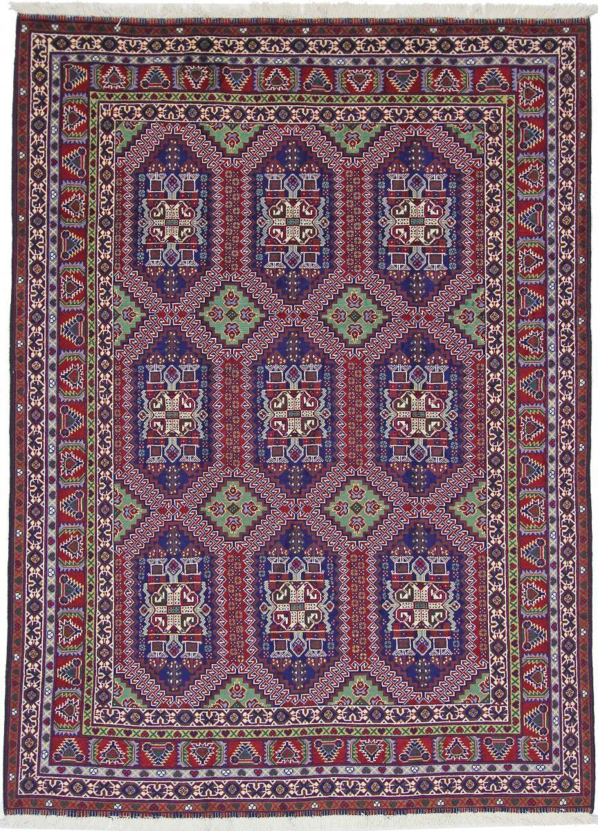 Nain Trading Tapis Khal Mohammadi Belgique 200x146 Gris Foncé/Violet (Laine, Afghanistan, Noué à la main)