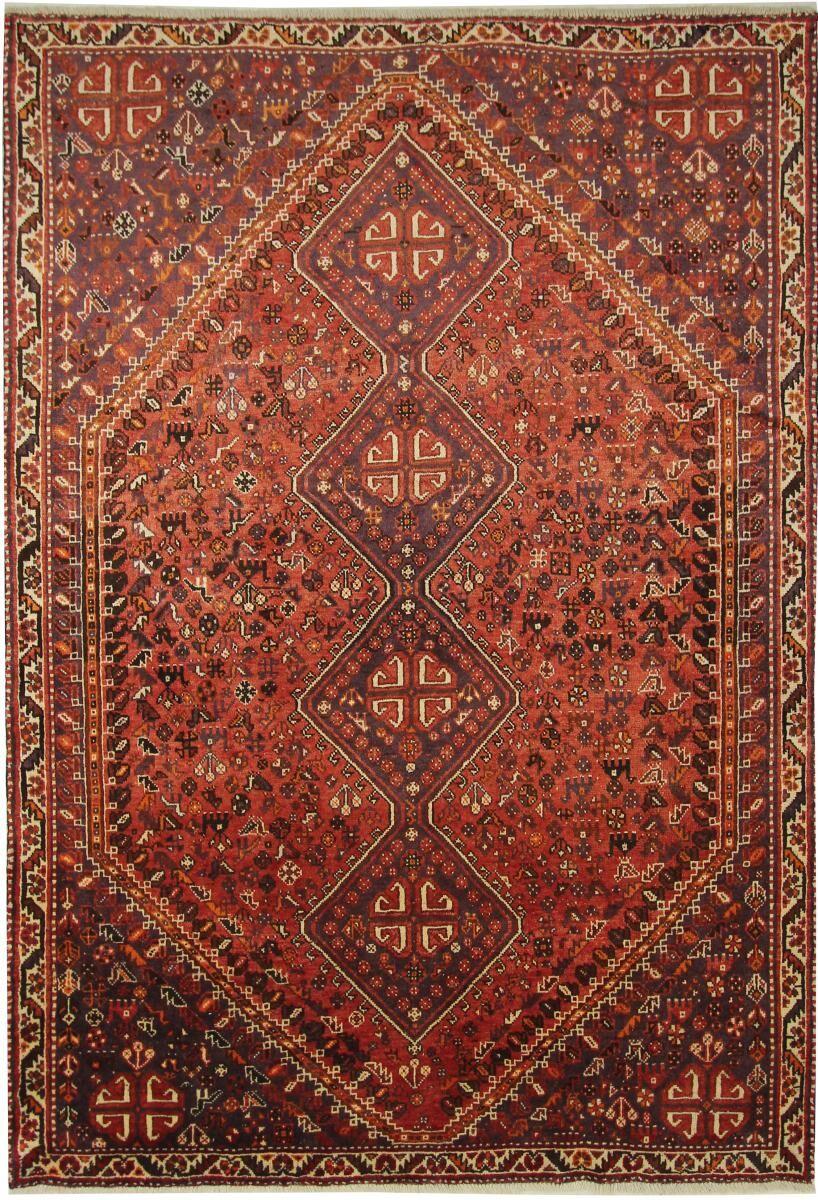 Nain Trading Tapis D'orient Shiraz 297x205 Marron/Orange (Laine, Perse/Iran, Noué à la main)