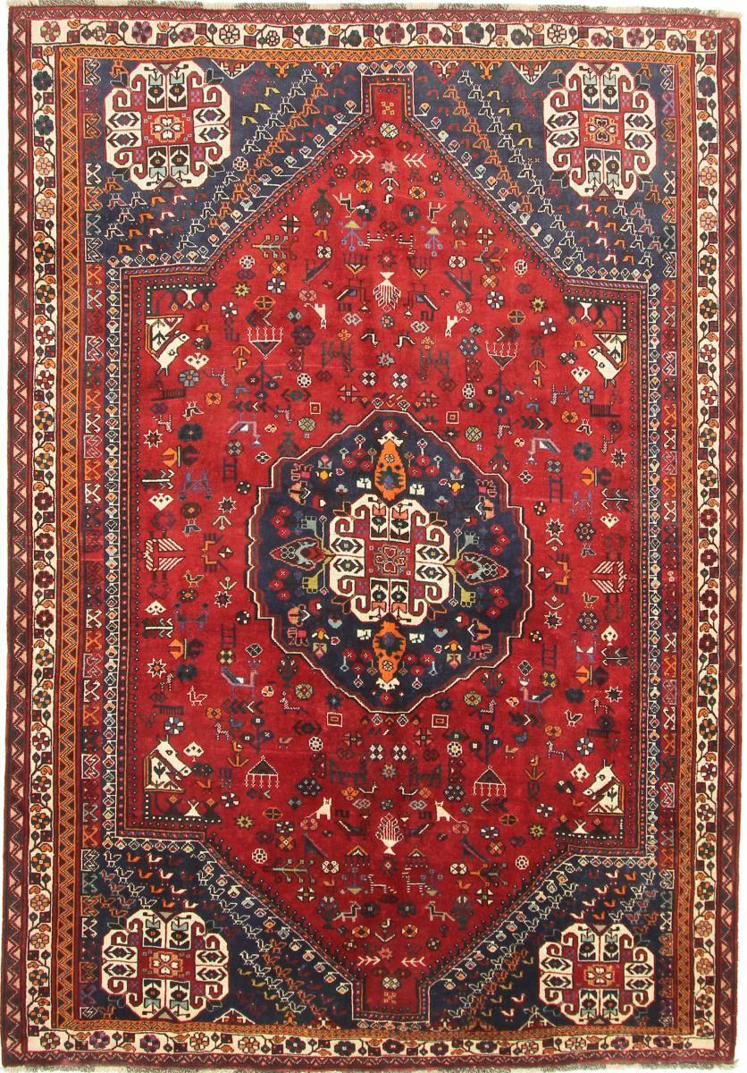 Nain Trading Tapis Persan Shiraz 285x199 Shiraz Rouge/Bleu Foncé (Noué à la main, Perse/Iran, Laine)