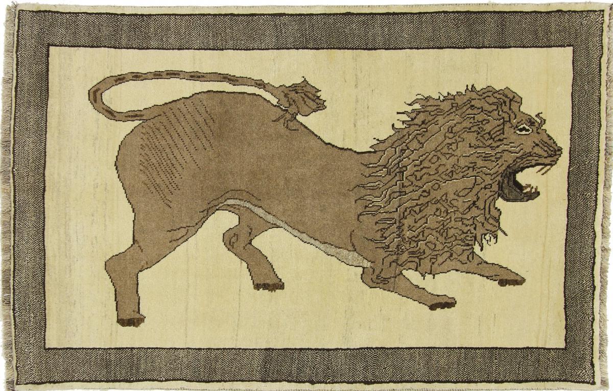 Nain Trading Tapis Shiraz 157x104 Beige/Marron Foncé (Laine, Perse/Iran, Noué à la main)