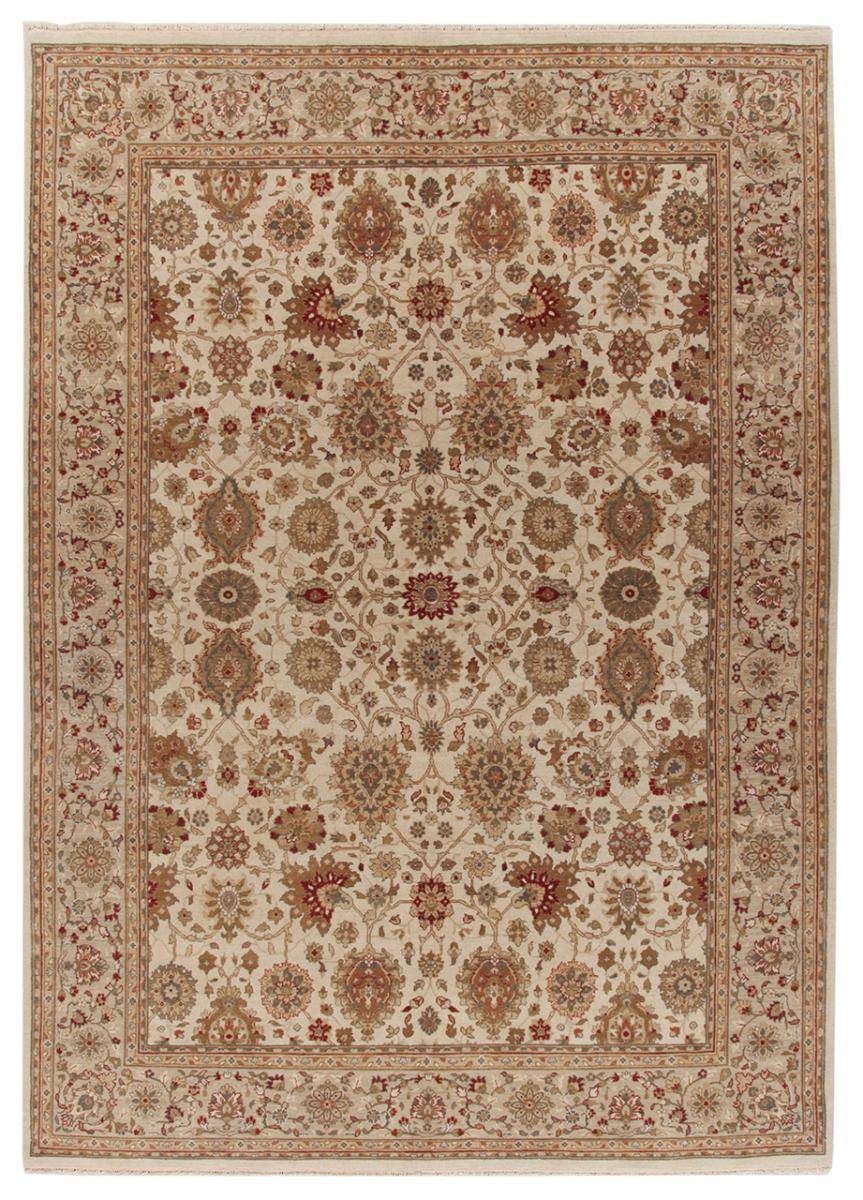 Nain Trading Tapis D'orient Indo Tabriz Royal 239x171 Beige/Marron (Noué à la main, Inde, Laine)