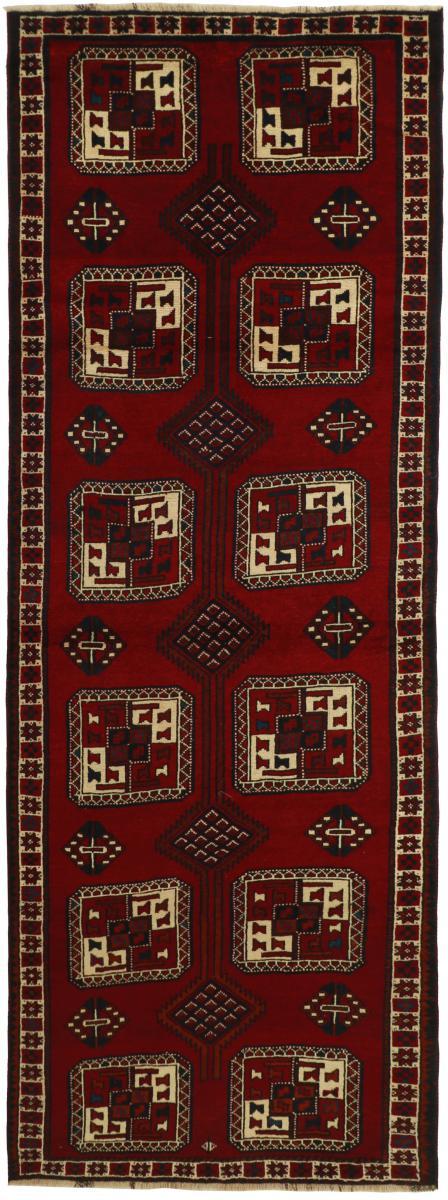 Nain Trading Tapis D'orient Shiraz 381x135 Gris Foncé/Marron Foncé (Perse/Iran, Laine, Noué à la main)
