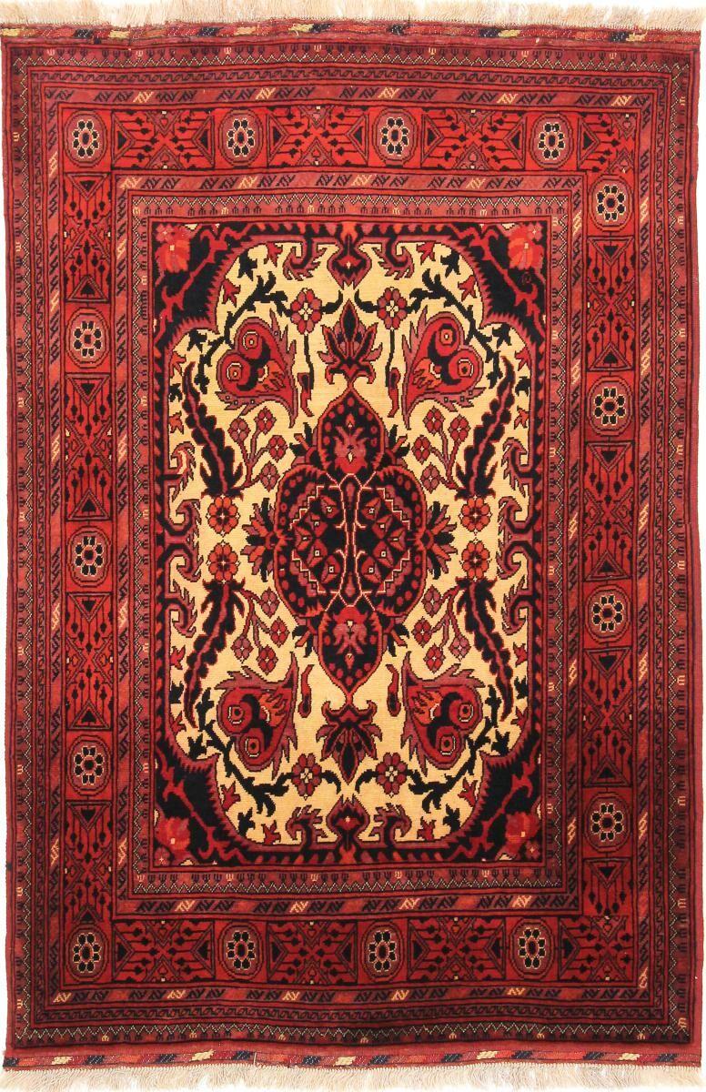 Nain Trading Tapis Authentique Khal Mohammadi Belgique 151x101 Marron/Orange (Laine, Afghanistan, Noué à la main)