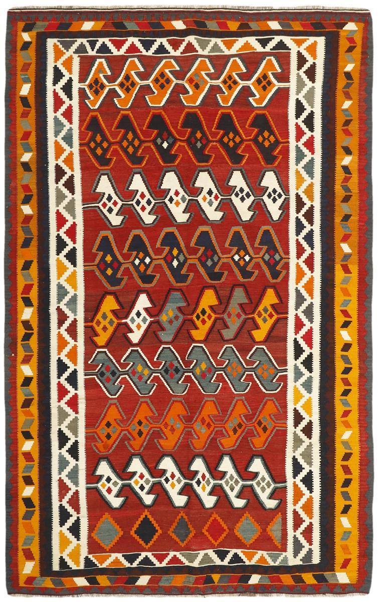 Nain Trading Tapis D'orient Kilim Fars Ancien 276x173 Marron/Orange (Laine, Perse/Iran, Noué à la main)