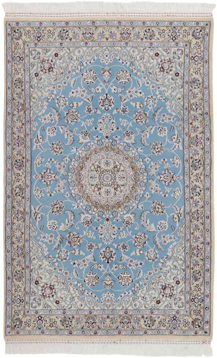 Nain Trading Tapis Fait Main Naïn 9La 177x116 Gris/Bleu Clair (Laine/Soie, Perse/Iran)