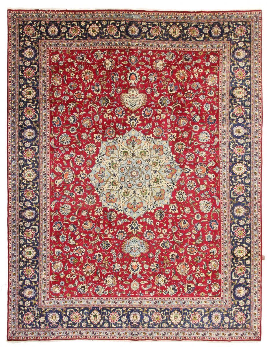 Nain Trading Tapis D'orient Kaschmar Signé Mohamad Agave 385x294 Beige/Orange (Perse/Iran, Laine, Noué à la main)