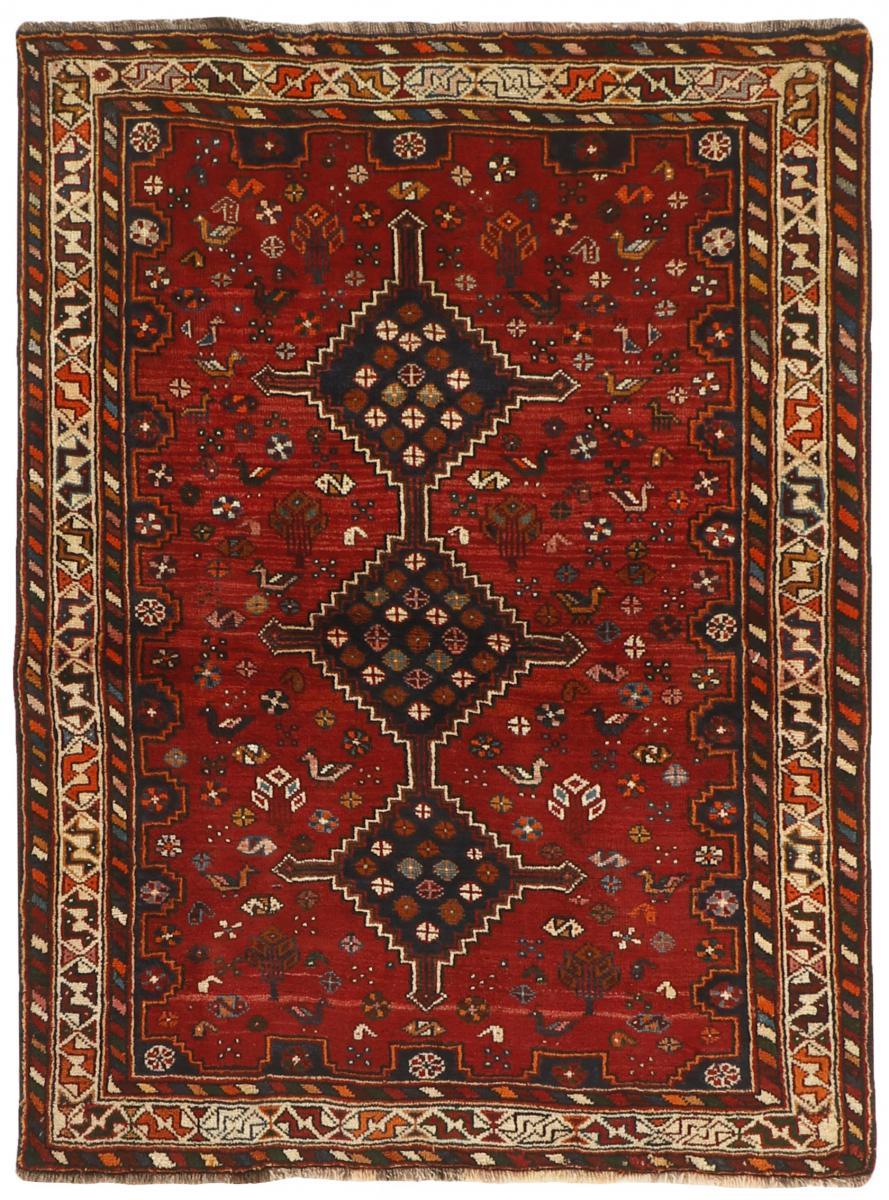 Nain Trading Tapis Shiraz 157x115 Gris Foncé/Rouge Foncé (Laine, Perse/Iran, Noué à la main)