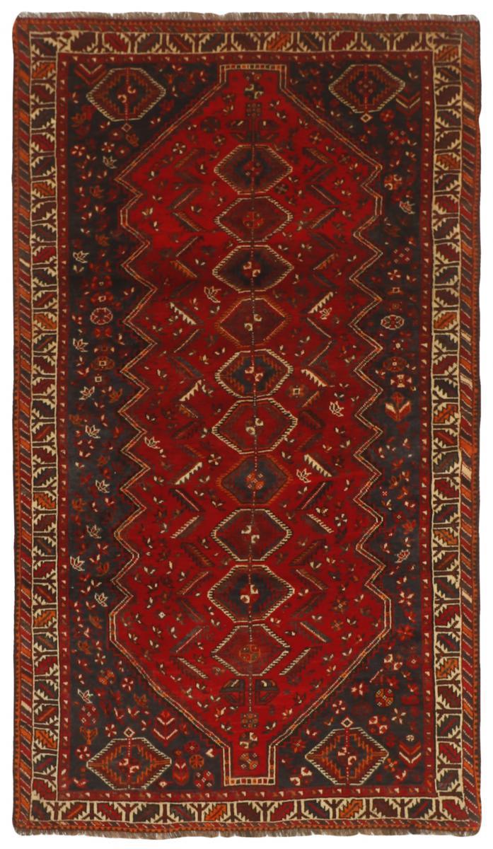 Nain Trading Tapis Fait Main Shiraz 240x132 Coureur Marron/Rouge Foncé (Laine, Perse/Iran)
