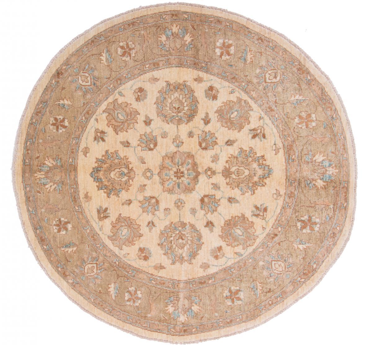 Nain Trading Tapis D'orient Ziegler Farahan 149x148 Beige/Rose (Afghanistan, Laine, Noué à la main)