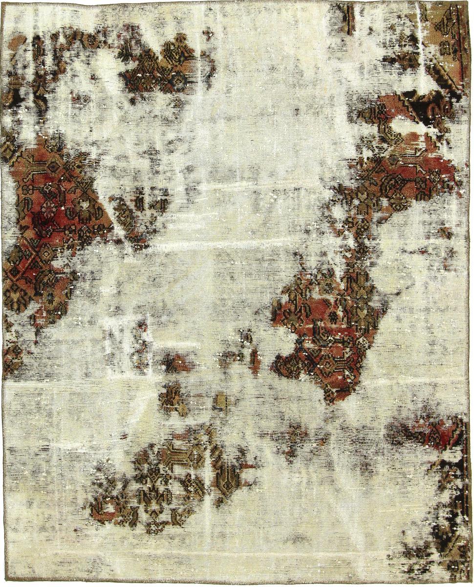 Nain Trading Tapis D'orient Vintage Royal 201x159 Gris Foncé/Olive Verte (Perse/Iran, Laine, Noué à la main)