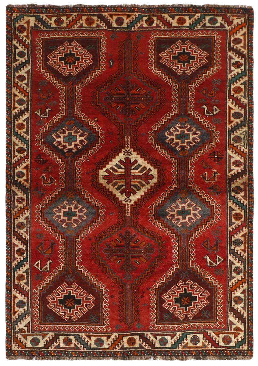 Nain Trading Tapis D'orient Shiraz 228x160 Marron/Rouille (Laine, Perse/Iran, Noué à la main)