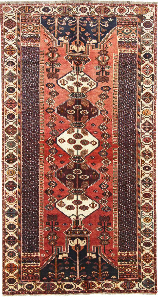 Nain Trading Tapis Fait Main Shiraz 296x157 Coureur Beige/Rouille (Laine, Perse/Iran)